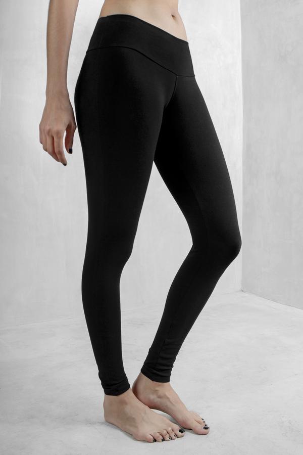 Black Leggings Organic Cotton Lycra